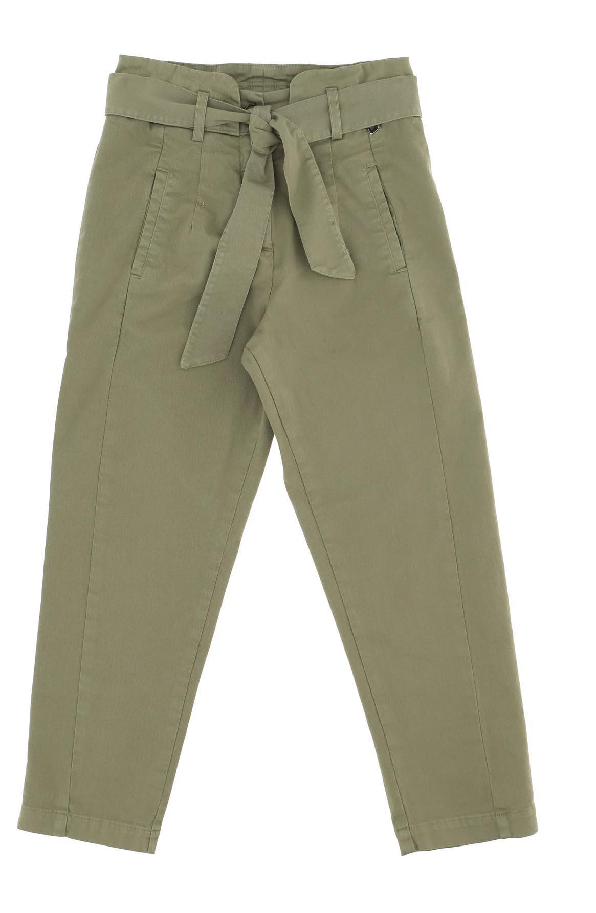 Pantalón verde con fajín de Dixie para niña