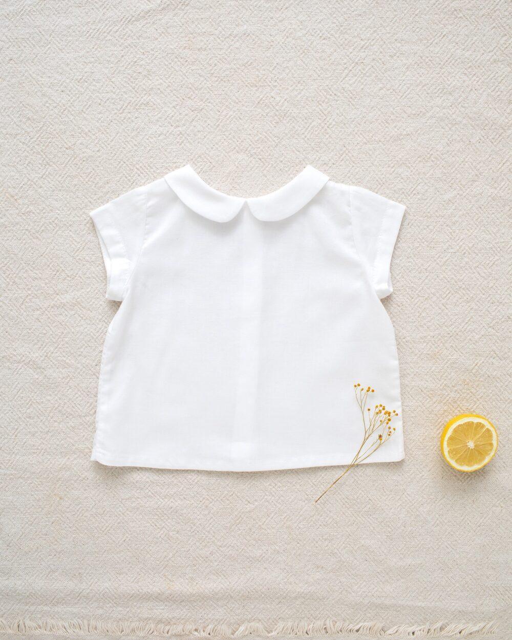 Camisa Cuello bebé blanca de Mi Canesú