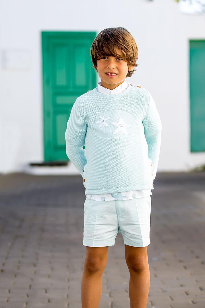 Bermuda aguamarina niño de Kid's Chocolate