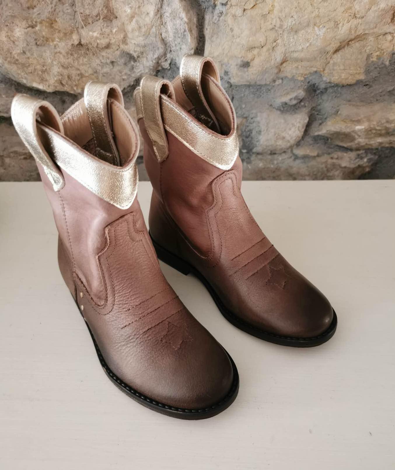Bota Tocotó Vintage Niña Cowboy