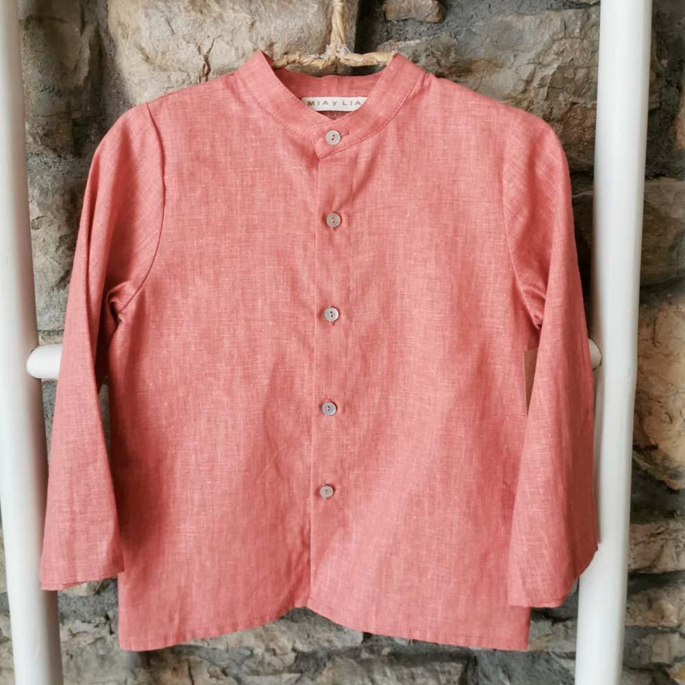 Camisa Niño Coral de Mia y Lia
