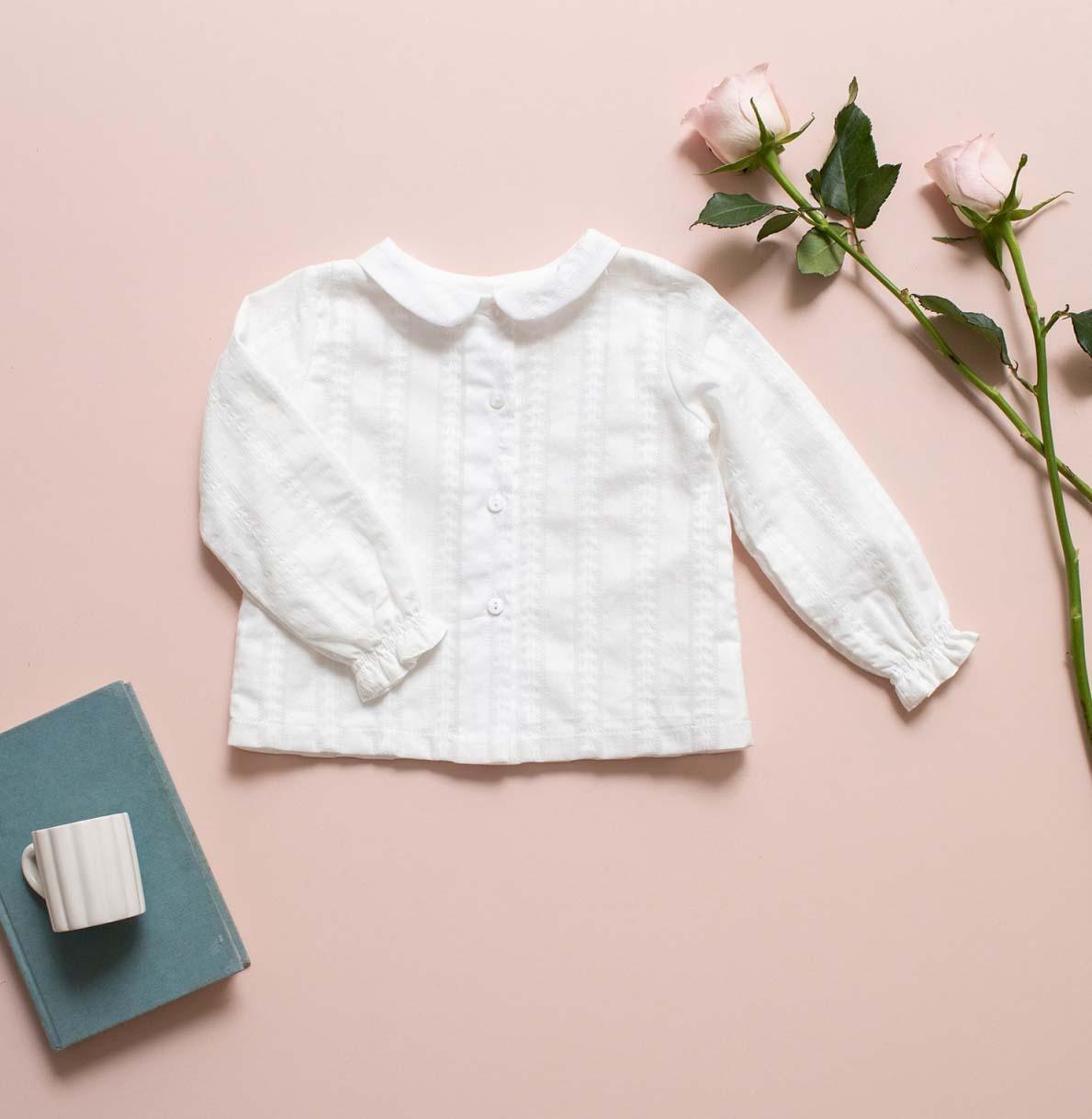 Camisa cuello bebe bordada Emilia