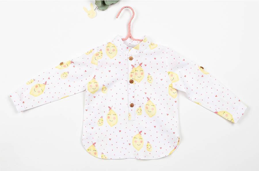 Camisa Baby Limones de Kids Chocolate
