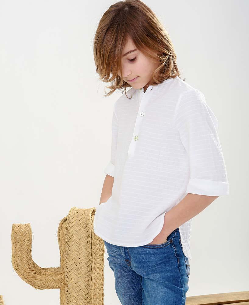 Camisa de Niño Blanca de Mia y Lia