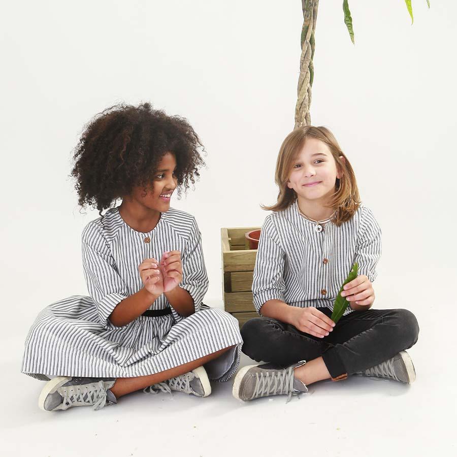 Camisa Niño Rayas de Mia y Lia
