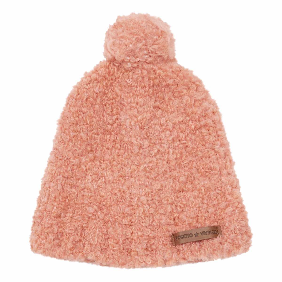 Conjunto gorro y bufanda en color rosa de Tocotó Vintage