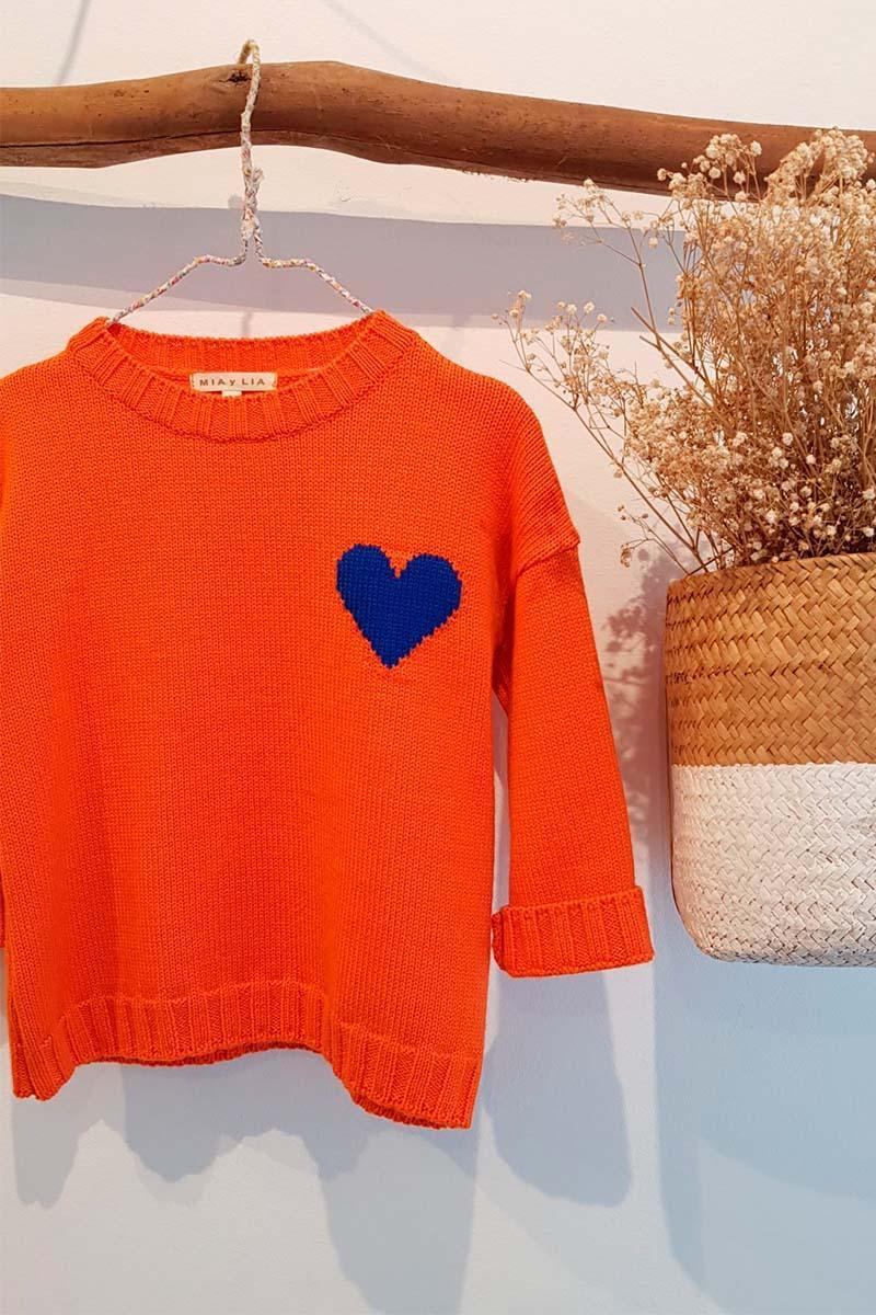 Jersey Naranja Corazón de Mia y Lia