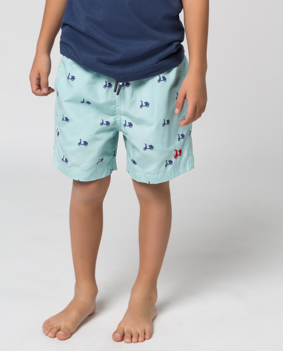 Bañador niño color verde menta de la marca Scotta