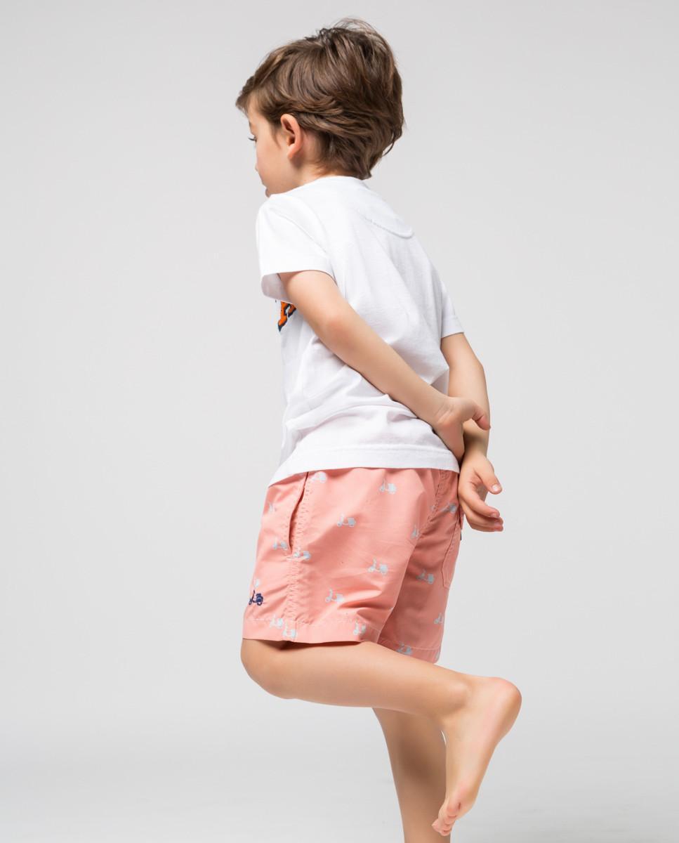 Traje de baño infantil en color Coral de la marca de moda Scotta