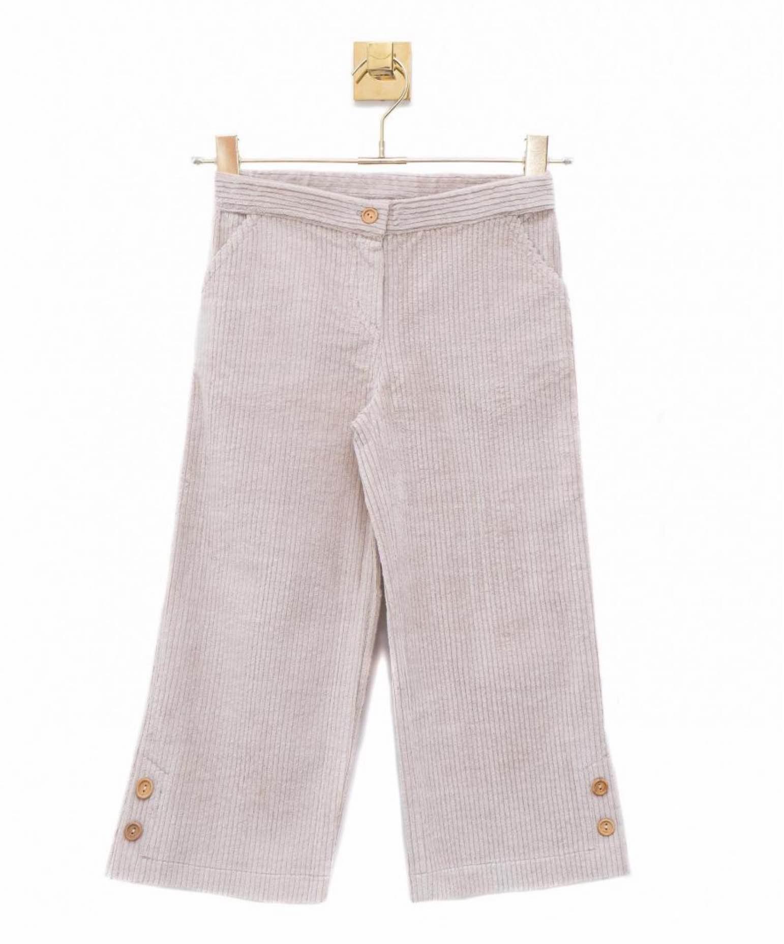 Pantalon Crop de pana de Lunares en Mayo