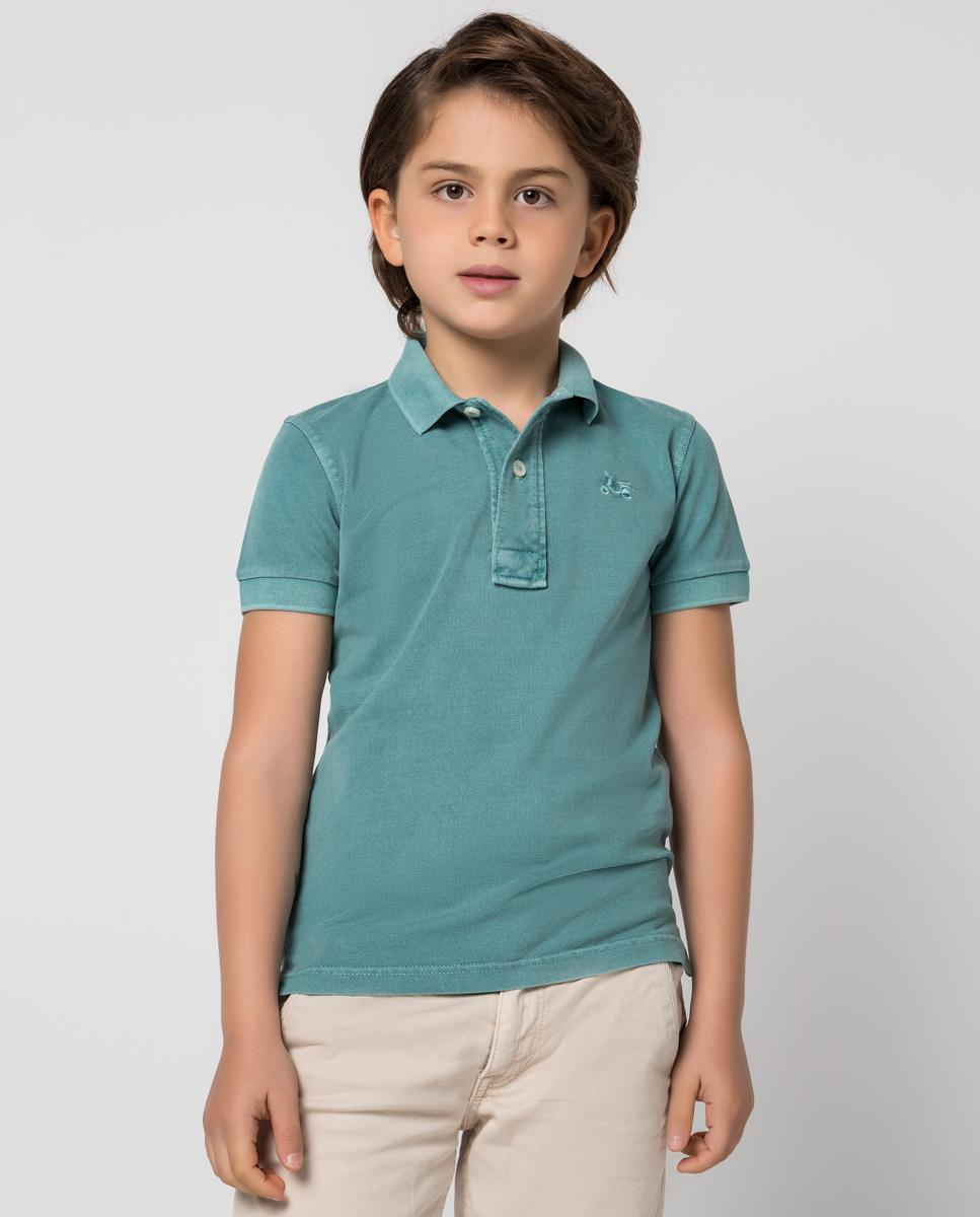 Polo infantil de la marca de moda Scotta en color petróleo