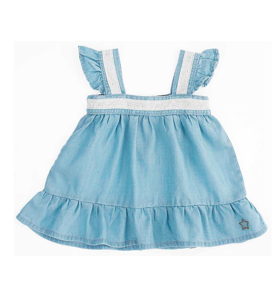 Vestido Baby color azul de Tocoto Vintage