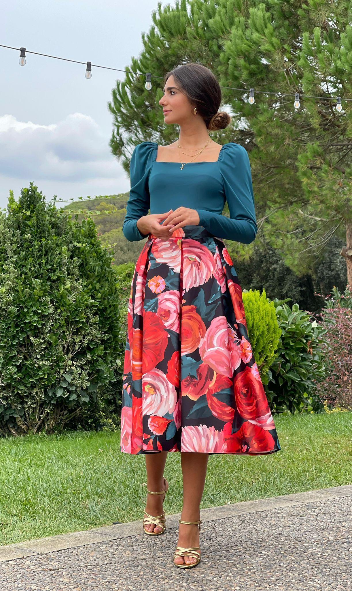 Falda Rosas