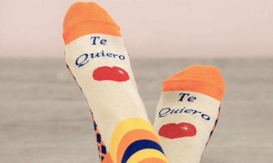 calcetines mujer con mensaje