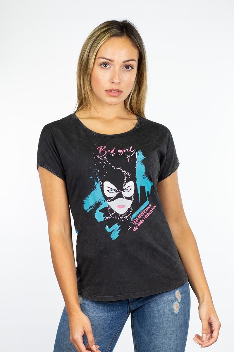 camiseta negra Catwoman