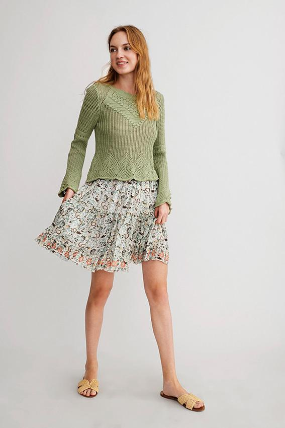 Falda corta con estampado floral