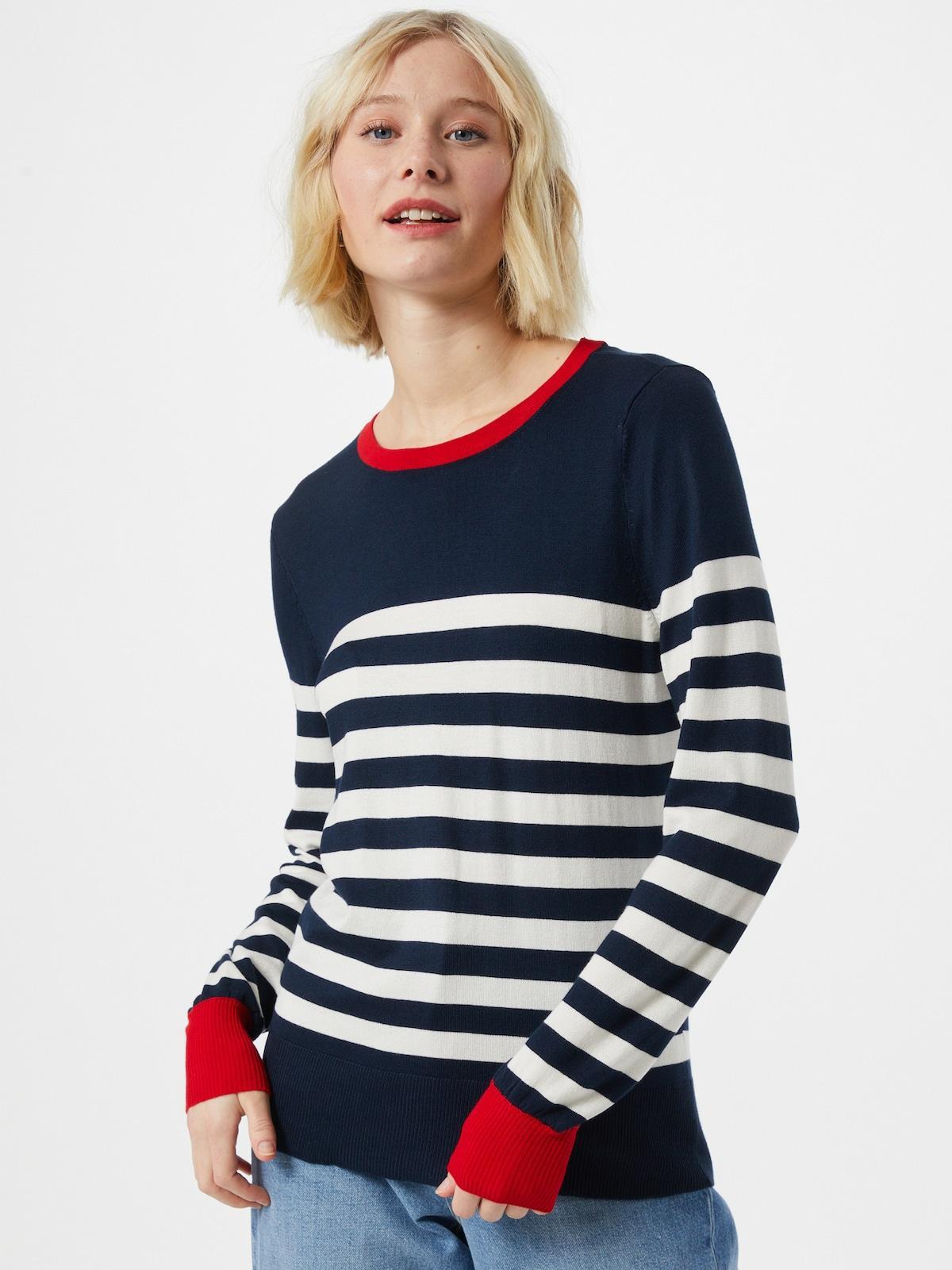 jersey de manga larga de rayas con contraste en los puños y cuello