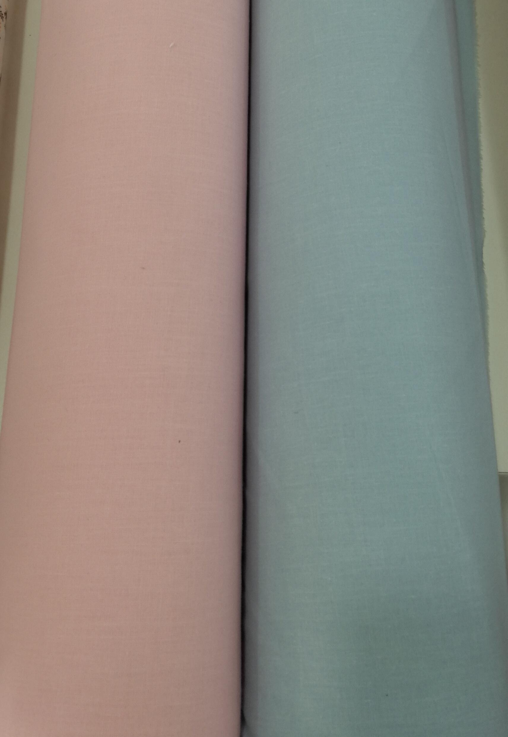 tela lisa algodon 100 color celeste