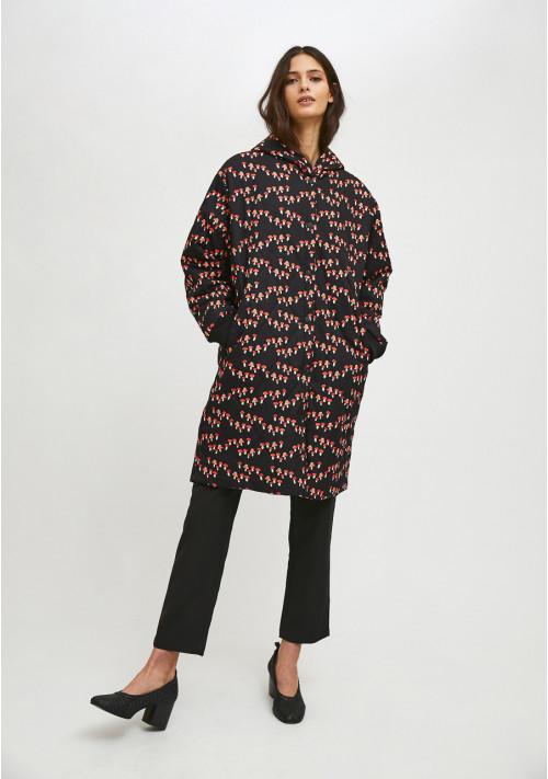 Abrigo acolchado largo estilo husky con estampado de setas COMPAÑIA FANTASTICA HAN50