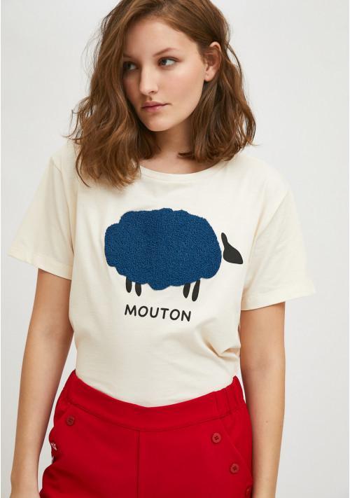 Camiseta de manga corta con animal print de ovejas COMPAÑIA FANTASTICA