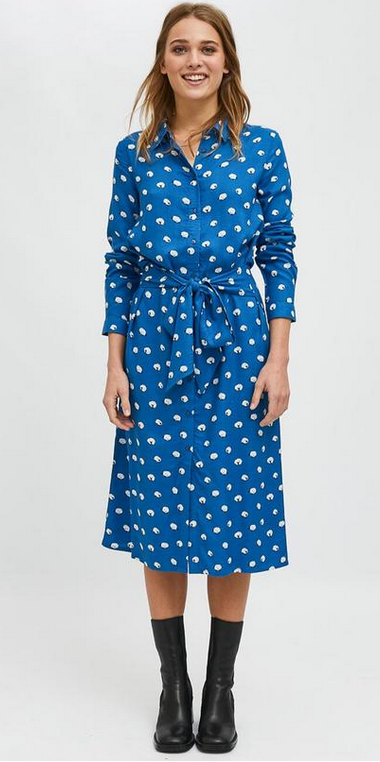 Vestido camisero midi con animal print de ovejas SHE32 COMPAÑIA FANTASTICA