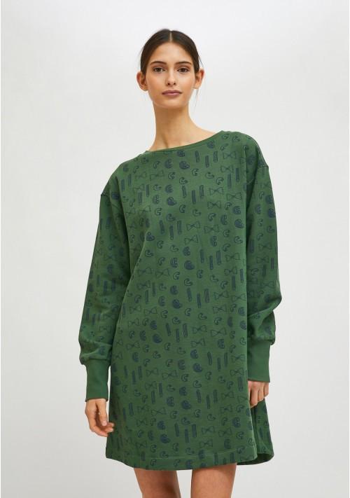 Vestido evasé de algodón con estampado geométrico de pasta COMPAÑIA FANTASTICA