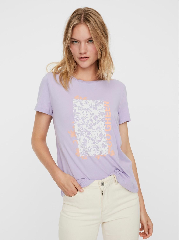camiseta manga corta letras vero moda karafrancis