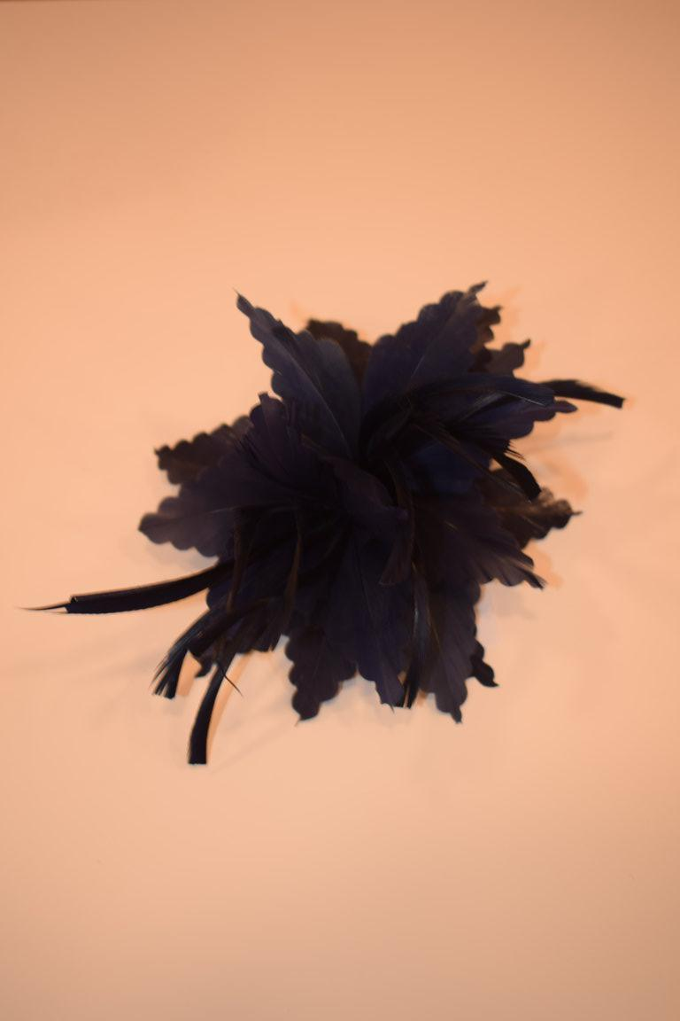 Broche/tocado pluma VARIOS COLORES