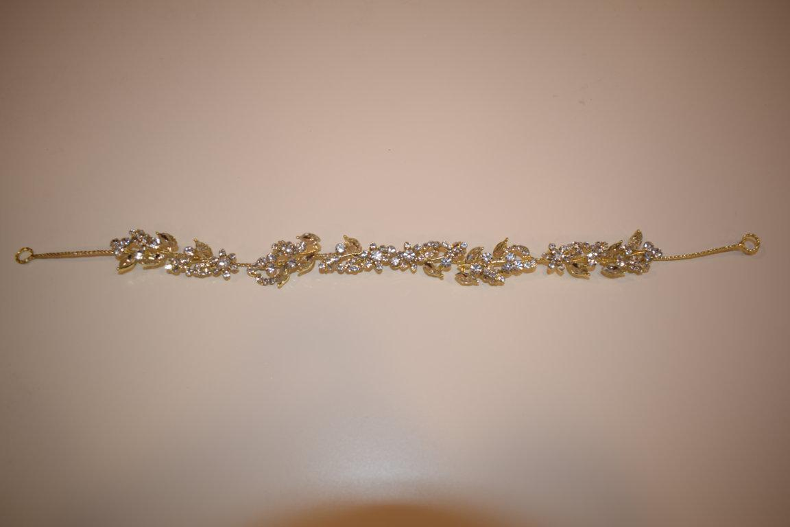 Diadema tiara cristal plata/oro