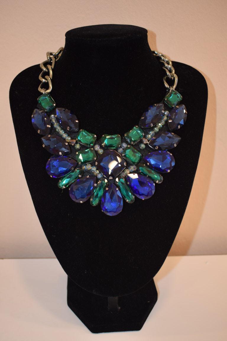Collar Joya Azul/Verde