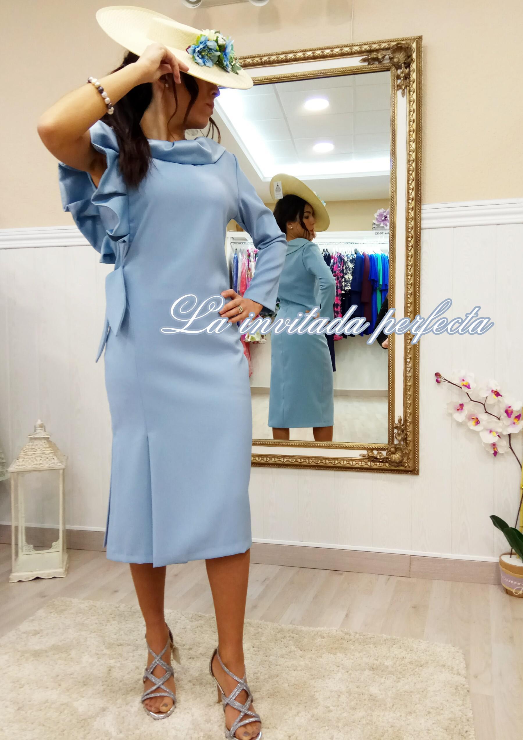 Vestido Audrey Azul Cielo