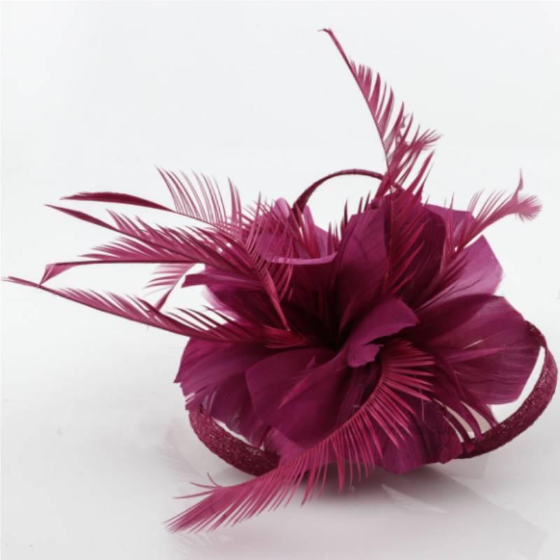 Tocado/broche plumas COLORES