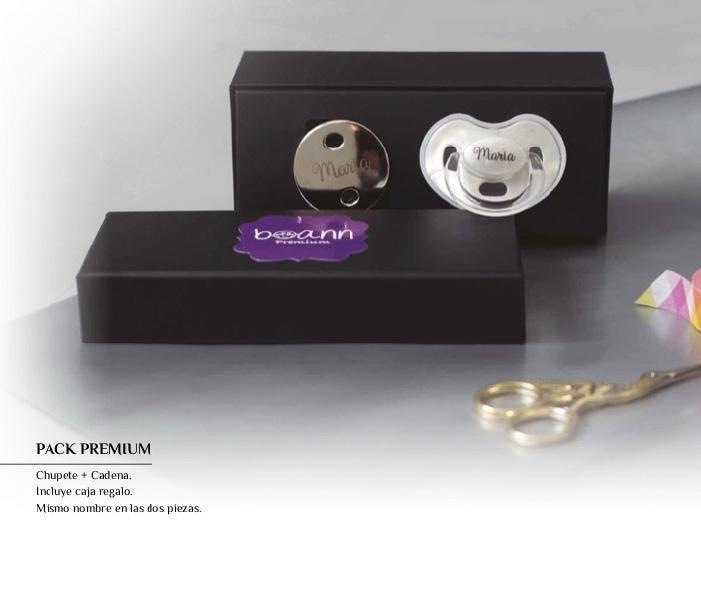 Conjunto de Cadena y Chupete Personalizado Premium