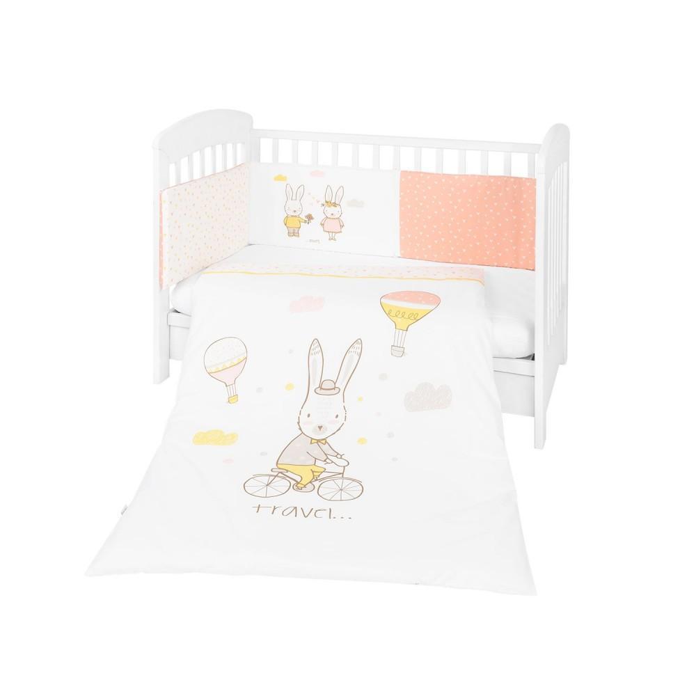 Juego Cuna 2 piezas Rabbits in Love 60x120 de Kikka Boo