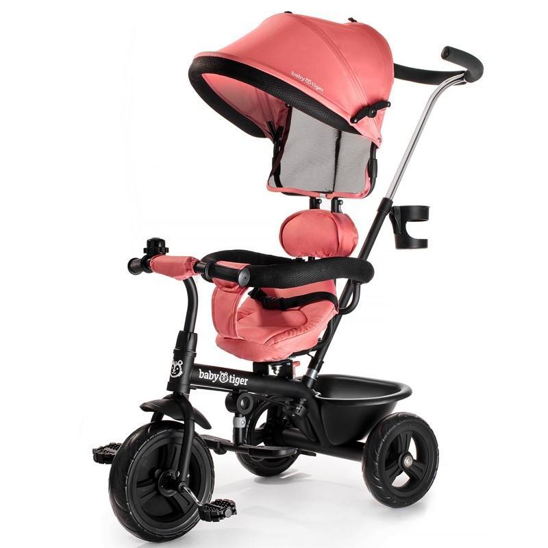 Triciclo con manillar reversible Baby Tiger Fly de Kinderkraft
