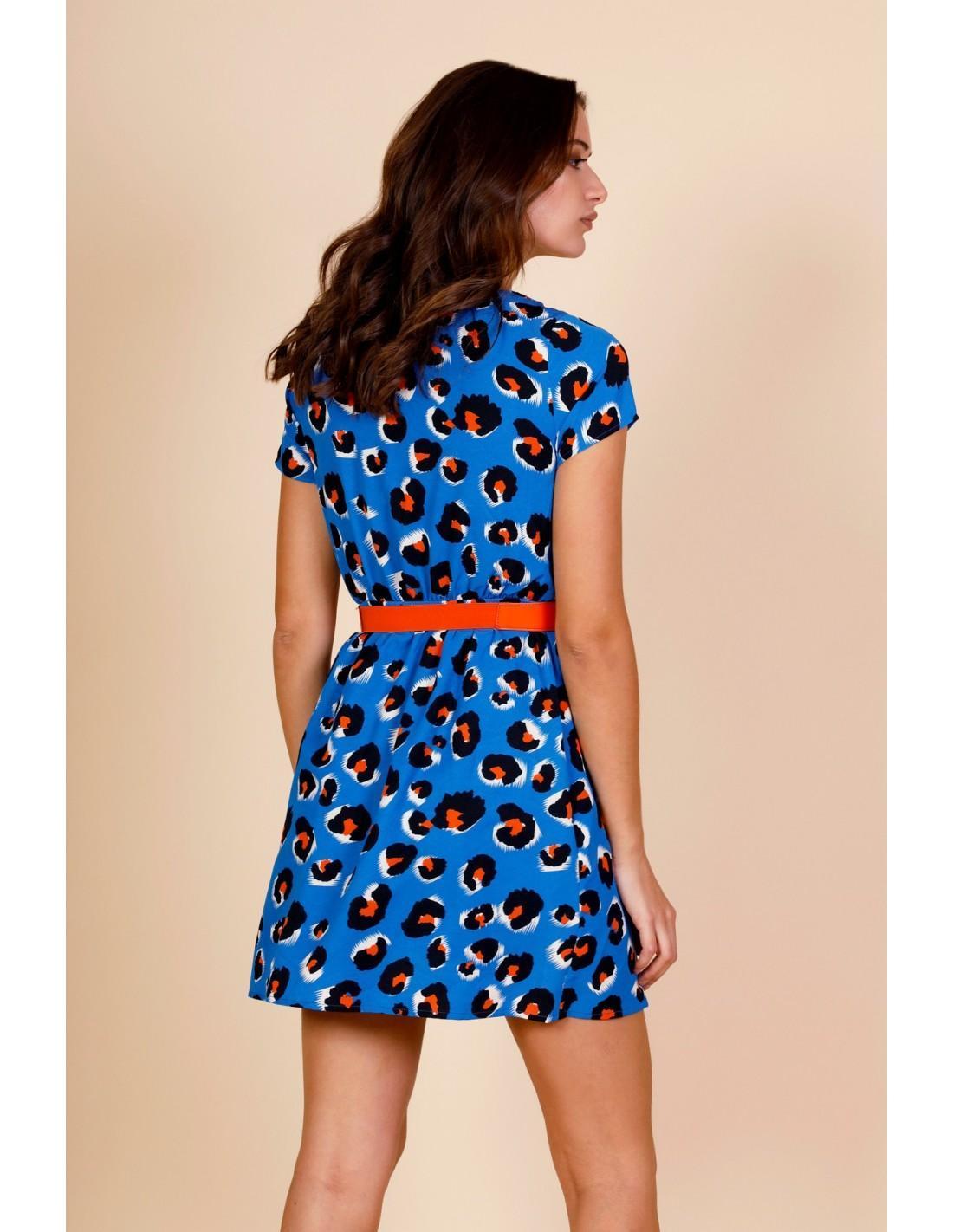 BLUE LEO DRESS MINUETO