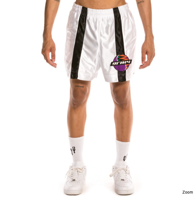 ACKNOWLEDGE WHITE RUNING SHORT GRIMEY1