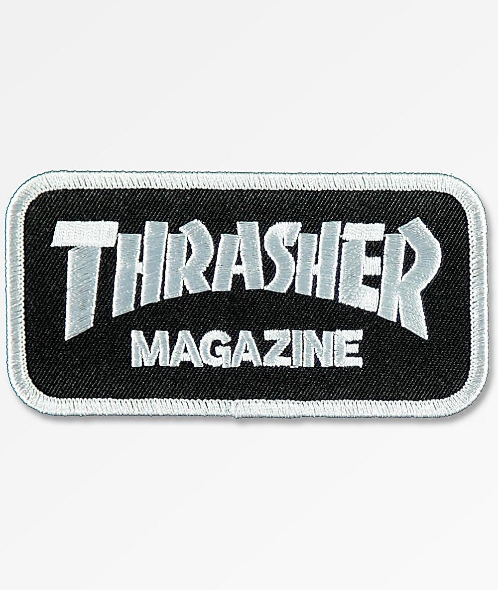 PARCHE THRASHER BLACK LOGO