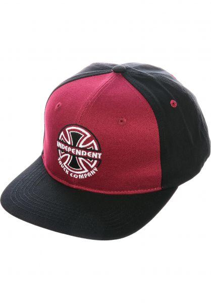 CAP ITC BAUHAUS BURGUNDY/BLACK- INDEPENDENT