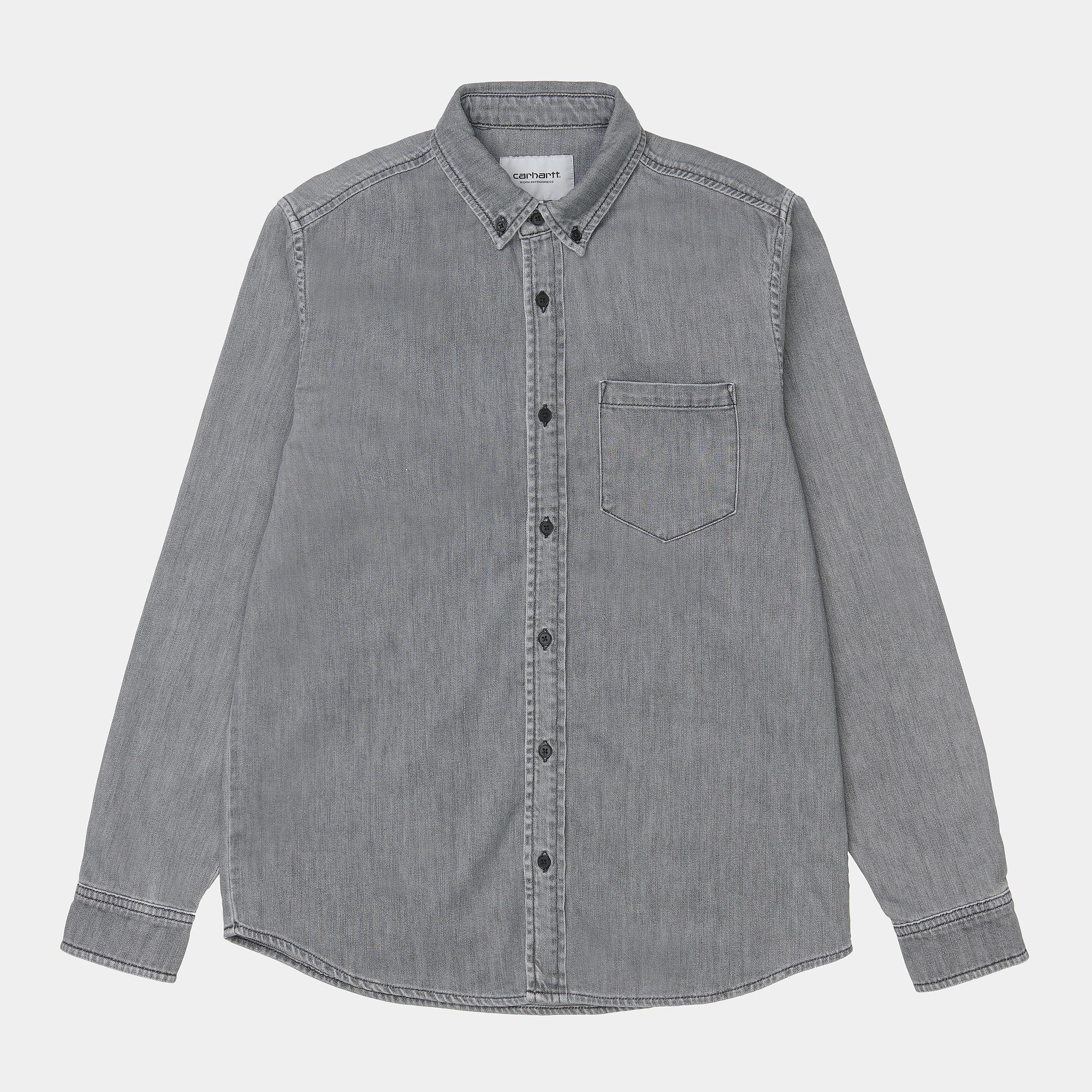 L/S Civil Shirt T400® Black Bleached CARHARTT