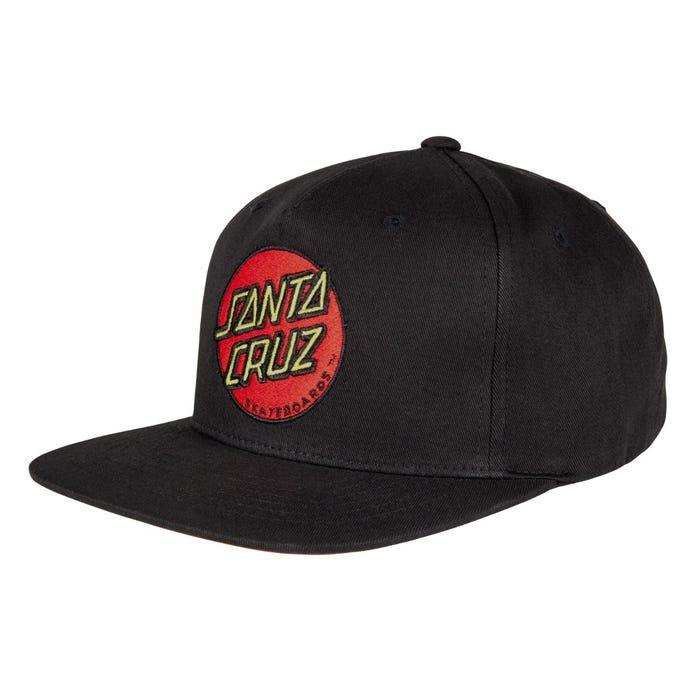 CAP CLASSIC DOT BLACK SANTA CRUZ