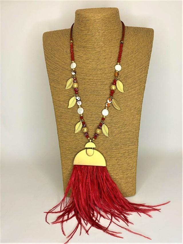 collar largo plumas marabu tosnac.com