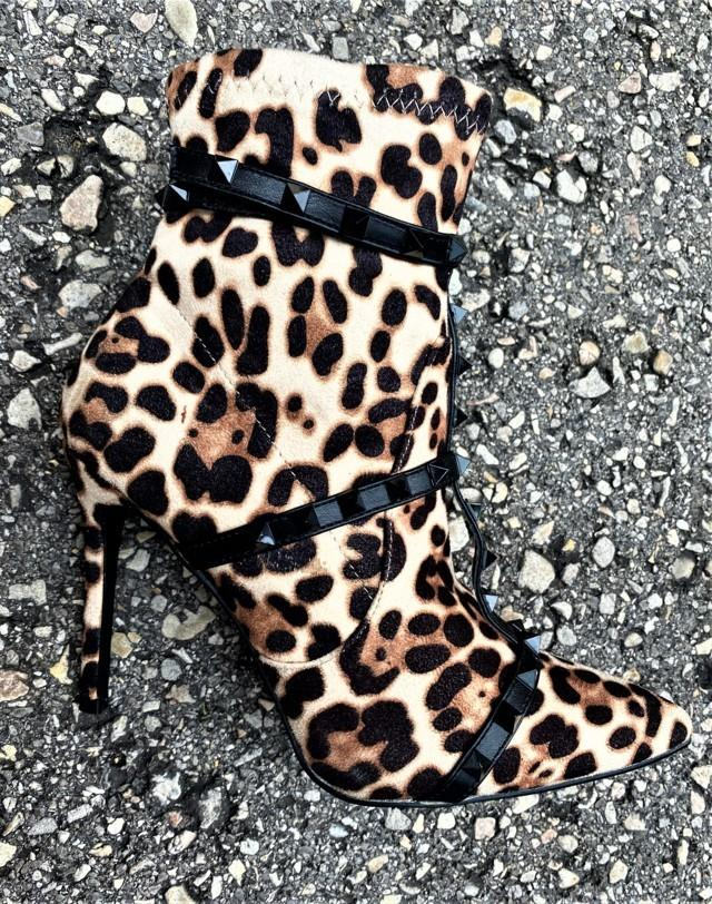 botin animal print tacon leopardo tosnac.com