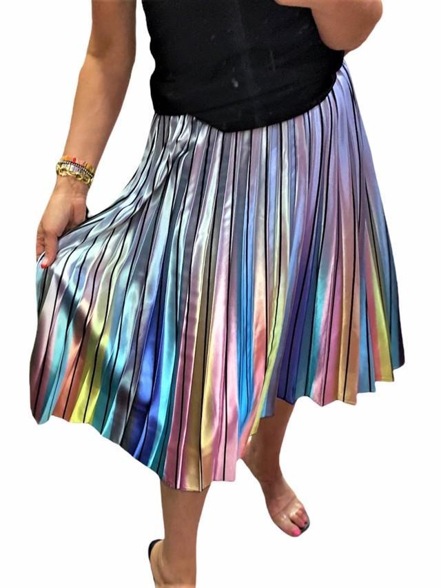 falda plisada irisada tosnac.com