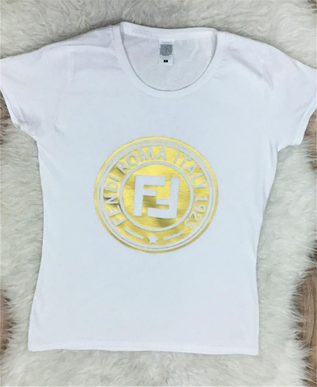 camiseta fendi roma oro