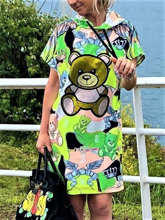 vestido capucha oso tatu tosnac.com