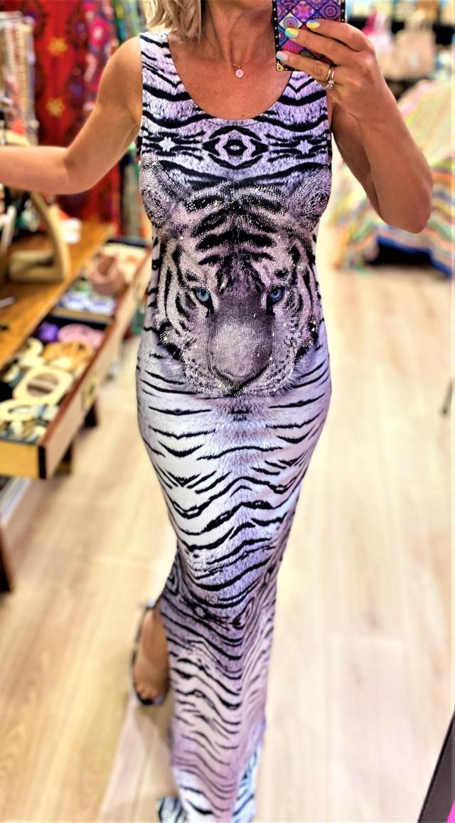 vestido largo leopardo tatu tosnac.com