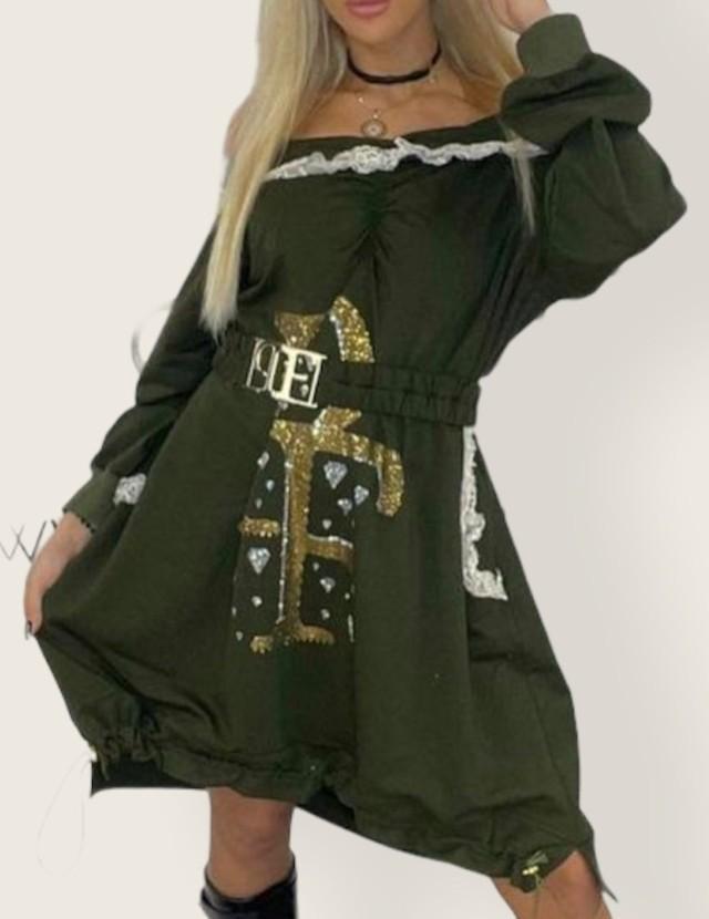 vestido sudadera glam paparazzi fashion tosnac.com