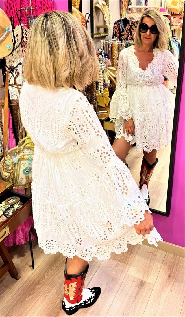 vestido boho chillout flamenco rosa tosnac.com
