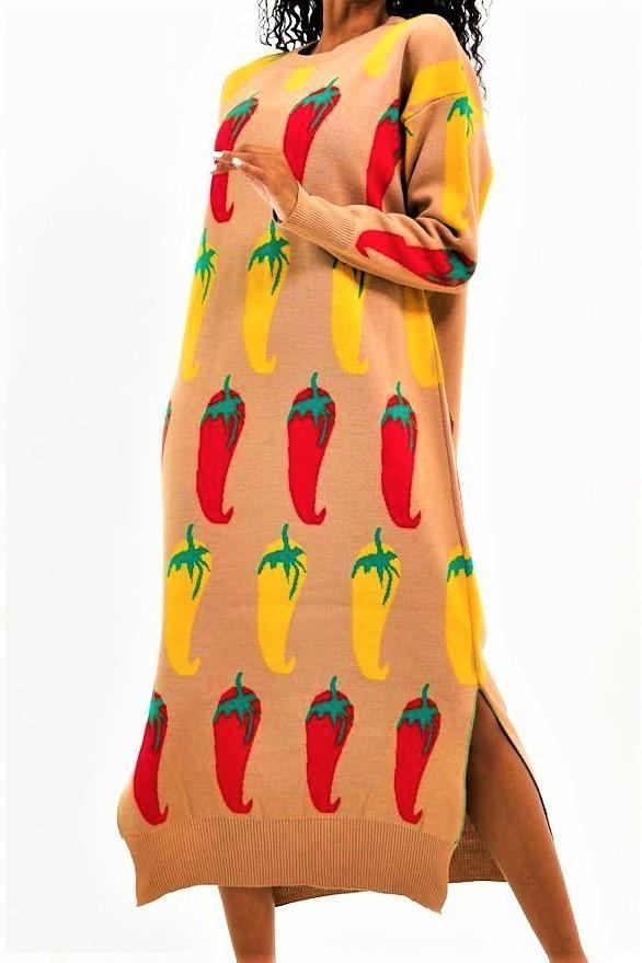vestido punto guindillas tosnac.com